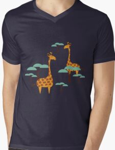 Giraffes Mens V-Neck T-Shirt