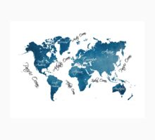 World Map blue One Piece - Long Sleeve