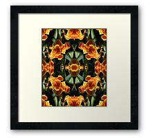 Reflections on a Canna Lily Framed Print