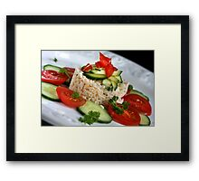 Summer Salad With Rice Framed Print