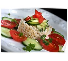 Summer Salad With Rice Poster
