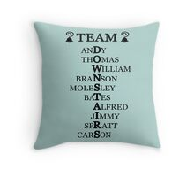 Team Downstairs (Boys) Throw Pillow