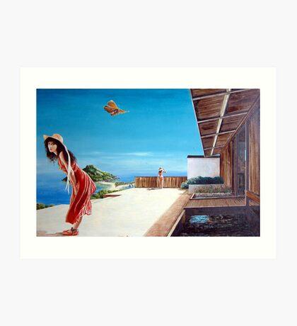 The Villa at Bourani - 1986 Art Print