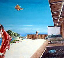 The Villa at Bourani - 1986 by quarleyart