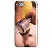 Sporty athletic woman in training iPhone Case/Skin