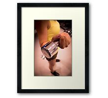 Sporty athletic woman in training Framed Print
