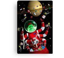 Santa in space Canvas Print