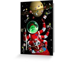 Santa in space Greeting Card