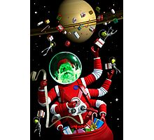 Santa in space Photographic Print