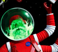 Santa in space Sticker