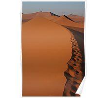 Walking on dunes Poster