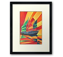 Sail Away Junk Pleasure Boat Framed Print