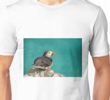 Puffin on cliff Unisex T-Shirt