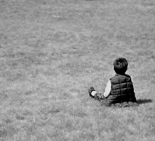 Boy on the lawn by Teemu