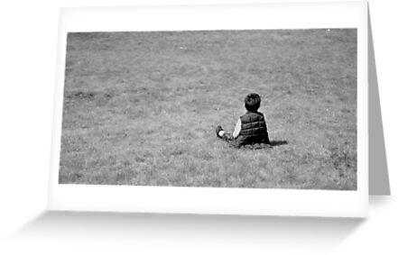 Boy on the lawn by Teemu