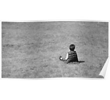 Boy on the lawn Poster