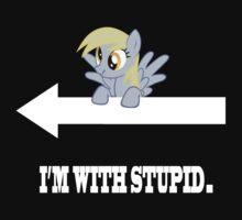 I'm  With Stupid - Derpy by Coffey