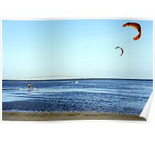 Kite Surfing by the Skyway Poster