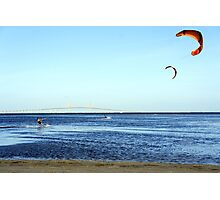 Kite Surfing by the Skyway Photographic Print