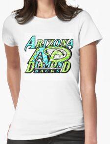 DIAMONDBACKS WHITE Womens Fitted T-Shirt