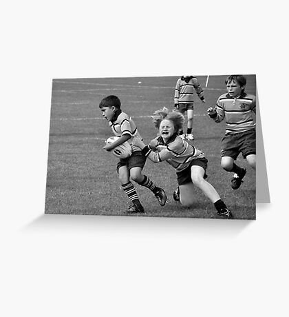 I love rugby! Greeting Card