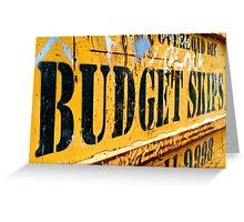 Budget Skips Greeting Card