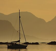 Dusk in the Sound of Arisaig. by John Cameron