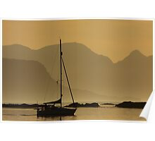 Dusk in the Sound of Arisaig. Poster