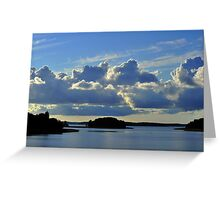 Summer evening at its best in an archipelago  Greeting Card