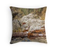 Driftwood and Seaweed Throw Pillow