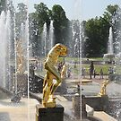 Fountains Galore- St Petersburg Russia by mikequigley