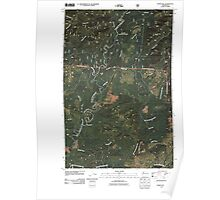 USGS Topo Map Washington State WA Burnt Hill 20110510 TM Poster