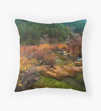 The Golden Valley Throw Pillow