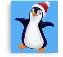 Happy Holidays Penguin Canvas Print