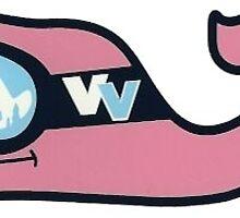 ski whale vineyard vines™ logo by Jensen Gill