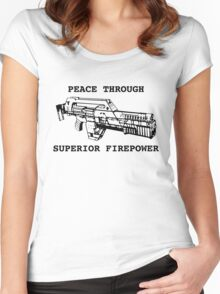 Peace Through Superior Firepower Women's Fitted Scoop T-Shirt