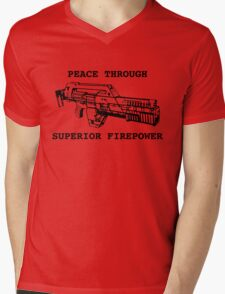 Peace Through Superior Firepower Mens V-Neck T-Shirt