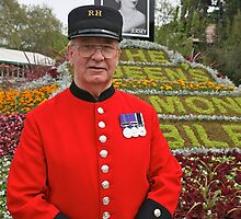 Chelsea Pensioner at the RHS Chelsea Flower Show 2012 by Keith Larby