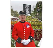 Chelsea Pensioner at the RHS Chelsea Flower Show 2012 Poster
