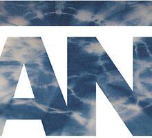 Vans Tie Dye Blue Logo by jackelstub