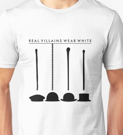 Real Villains Wear White Unisex T-Shirt