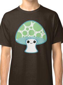 Green Polka Dotted Mushroom Classic T-Shirt