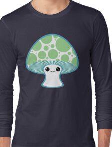 Green Polka Dotted Mushroom Long Sleeve T-Shirt