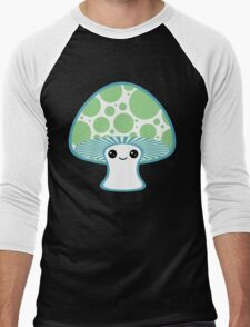 Green Polka Dotted Mushroom Men's Baseball ¾ T-Shirt