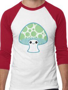 Green Polka Dotted Mushroom Men's Baseball ¾ T-Shirt