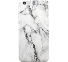White Marble Stone, Gray Accents iPhone Case/Skin