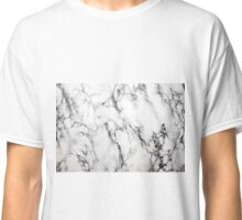 White Marble  Classic T-Shirt