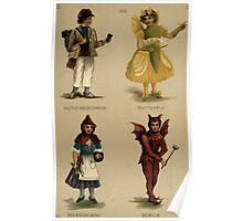 Fancy dresses described or What to wear at fancy balls by Ardern Holt 312 Maltese Water Carrier Butterfly Red Riding Hood Goblin Poster