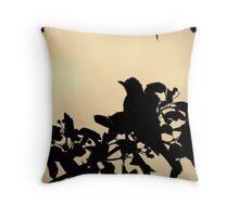 Robin Silhouette Throw Pillow