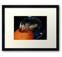 fruity space Framed Print